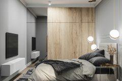 9-sypialnia-z-garderobą-szare-dodatki-i-drewno