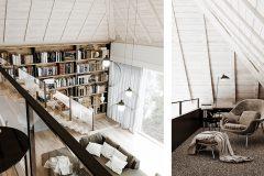 2_-jasne-wnętrze-skandynawskie-_-biblioteka-na-antersoli-_-otwarta-więźba-dachowa-_-nieruchomosć-w-Łodzi-_-dom-w-lesie