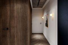 apartament-w-warszawie-styl-loftowy-i-art-deco-cegła-w-salonie-Artystyczny-Żoliborz-korytarz