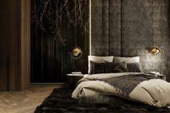 apartament-w-warszawie-styl-loftowy-i-art-deco-cegła-w-salonie-Artystyczny-Żoliborz-sypialnia