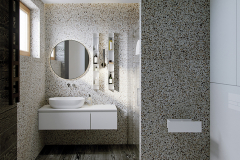 łazienka-z-lastrico-i-drewnem-wnętrza-skadynawskie-z-wykorzystaniem-zieleni-odważny-styl-nowoczesny-otwarte-przestrzenie-Jedlicze-B