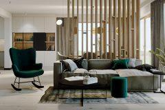 2-strefa-dzienna-w-domu-w-zieleni-wnętrza-skadynawskie-z-wykorzystaniem-zieleni-odważny-styl-nowoczesny-otwarte-przestrzenie-Jedlicze-B