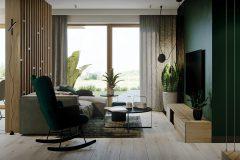 strefa-dzienna-w-domu-w-zieleni-wnętrza-skadynawskie-z-wykorzystaniem-zieleni-odważny-styl-nowoczesny-otwarte-przestrzenie-Jedlicze-B