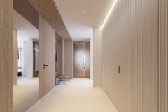 01-minimalistyczn-hol-wejsciowt-wnętrze-w-duchu-Vastu-shastra-styl-japandi-proejkt-OSOM-group-Warszawa-Hamptons-naturalne-materiały-interior-design-OSOM-group