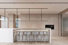 03-2-minimalistycza-kuchnia-w-stylu-japandi-wnętrze-w-duchu-Vastu-shastra-styl-japandi-proejkt-OSOM-group-Warszawa-Hamptons-naturalne-materiały-interior-design-OSOM-group