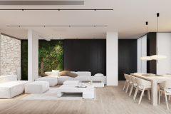 04-2-minimalistycz-sterfa-dzienna-w-stylu-japandi-wnętrze-w-duchu-Vastu-shastra-styl-japandi-proejkt-OSOM-group-Warszawa-Hamptons-ściana-solna-ogród-wertyklany-interior-design