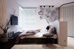 8_-wnętrze-z-dużym-salonem-skandynawski-styl-jasne-drewno-z-czarnymi-dodatkami-mieszkanie-Grodzisk-Mazowiecki