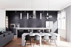 3-minimalistyczny-styl-wnetrza-z-duża-część-dzienną-_-dominuje-czarny-i-grafitowy-oraz-jasne-drewno-mieszkanie-w-Warszawie