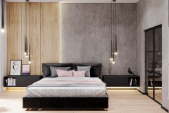 6-minimalistyczny-styl-wnetrza-z-duża-część-dzienną-_-dominuje-czarny-i-grafitowy-oraz-jasne-drewno-mieszkanie-w-Warszawie