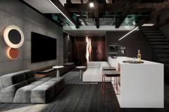 1-luksusowy-apartament-Łódż-styl-nowoczesny-dizajnerskie-wnętrza-luksusowe-strefa-dzienna