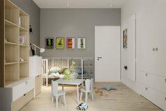 chłopiec-2-miminalistyczne-wnętrze-w-stylu-japandi-wykorzystanie-naturalnych-materiałów-w-kolorze-ziemi-Łódź