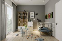 chłopiec-3-pokój-dziecka-miminalistyczne-wnętrze-w-stylu-japandi-wykorzystanie-naturalnych-materiałów-w-kolorze-ziemi-Łódź