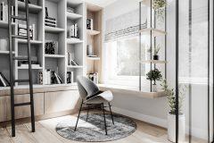 11-gabinet-styl-skandynawski-wnętrza-naturalne-materiały-wykorzystanie-kolorów-ziemi-jasne-wnętrza-warszawa