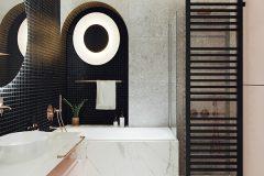 10-nowowczesne-nawiazanie-do-stylu-vintage-_-apartamentowiec-w-Warszawie-jasne-wnętrze-z-mocnymi-dodatkami-czerni-i-bordo