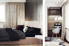 12-nowowczesne-nawiazanie-do-stylu-vintage-_-apartamentowiec-w-Warszawie-jasne-wnętrze-z-mocnymi-dodatkami-czerni-i-bordo