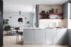 3-nowowczesne-nawiazanie-do-stylu-vintage-_-apartamentowiec-w-Warszawie-jasne-wnętrze-z-mocnymi-dodatkami-czerni-i-bordo