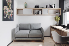 4-nowowczesne-nawiazanie-do-stylu-vintage-_-apartamentowiec-w-Warszawie-jasne-wnętrze-z-mocnymi-dodatkami-czerni-i-bordo