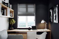 5-nowowczesne-nawiazanie-do-stylu-vintage-_-apartamentowiec-w-Warszawie-jasne-wnętrze-z-mocnymi-dodatkami-czerni-i-bordo