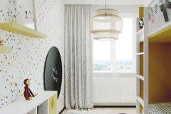 6-nowowczesne-nawiazanie-do-stylu-vintage-_-apartamentowiec-w-Warszawie-jasne-wnętrze-z-mocnymi-dodatkami-czerni-i-bordo