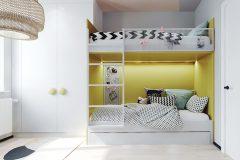 7-nowowczesne-nawiazanie-do-stylu-vintage-_-apartamentowiec-w-Warszawie-jasne-wnętrze-z-mocnymi-dodatkami-czerni-i-bordo