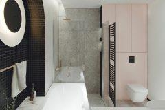 9-nowowczesne-nawiazanie-do-stylu-vintage-_-apartamentowiec-w-Warszawie-jasne-wnętrze-z-mocnymi-dodatkami-czerni-i-bordo